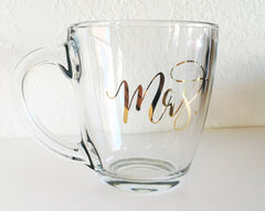 Glass Mrs. Mug