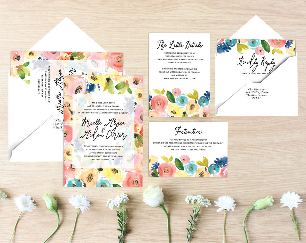 Brielle Printable Wedding Suite