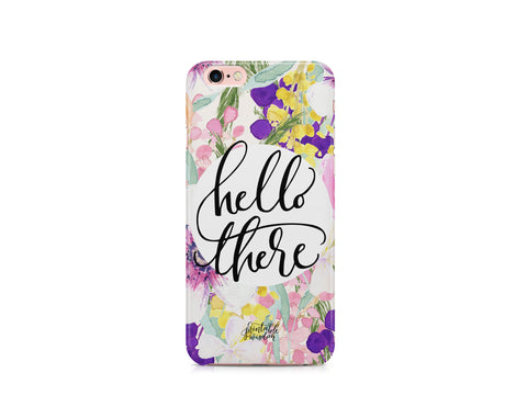 """Hello There"" Phone Case, Slim Fit"