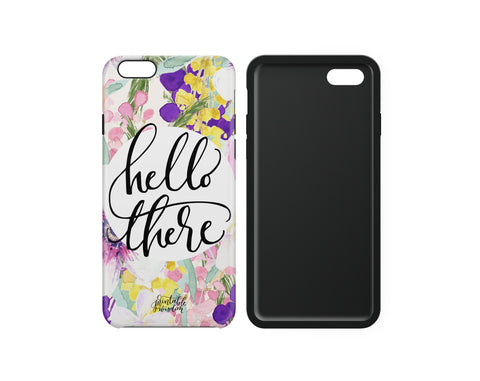"""Hello There"" Phone Case, Tough"
