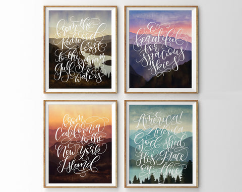 America the Beautiful, Set of Four