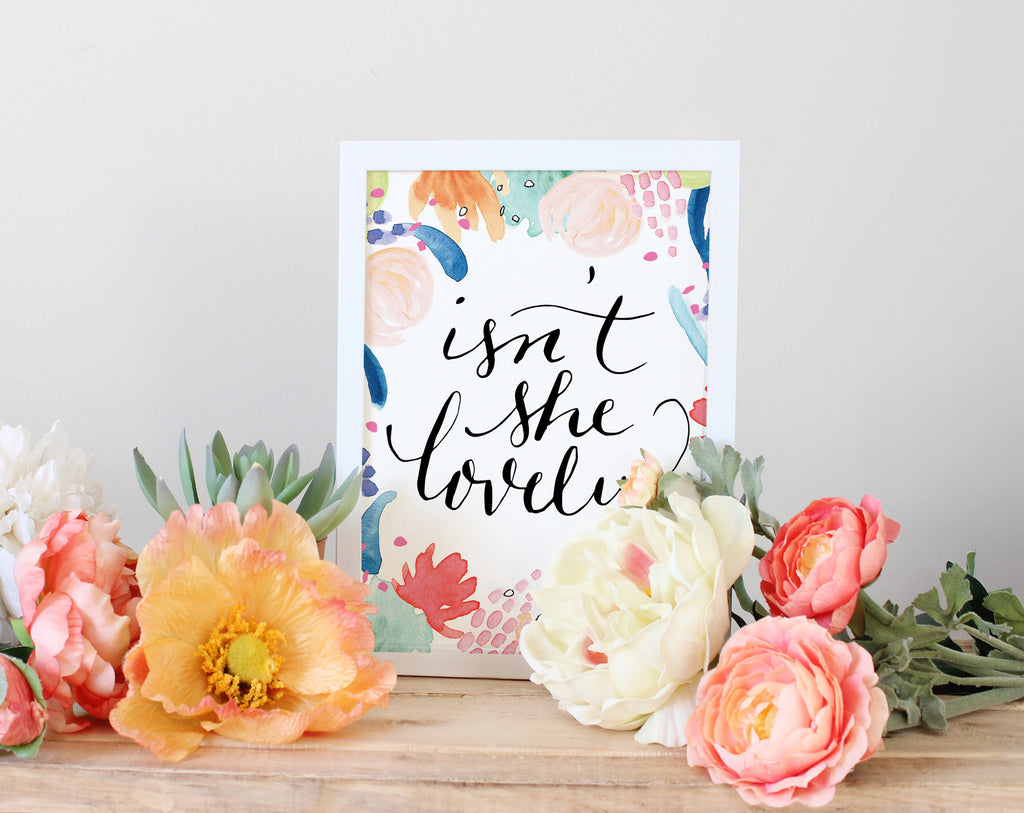 Isn't She Lovely 5x7 Art Print