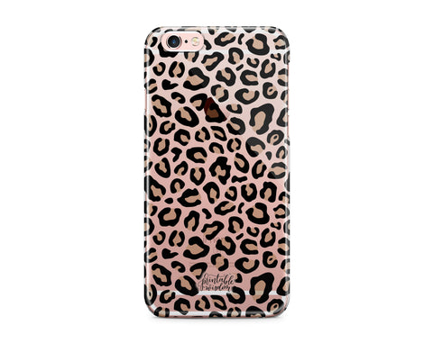 Leopard Phone Case, Clear