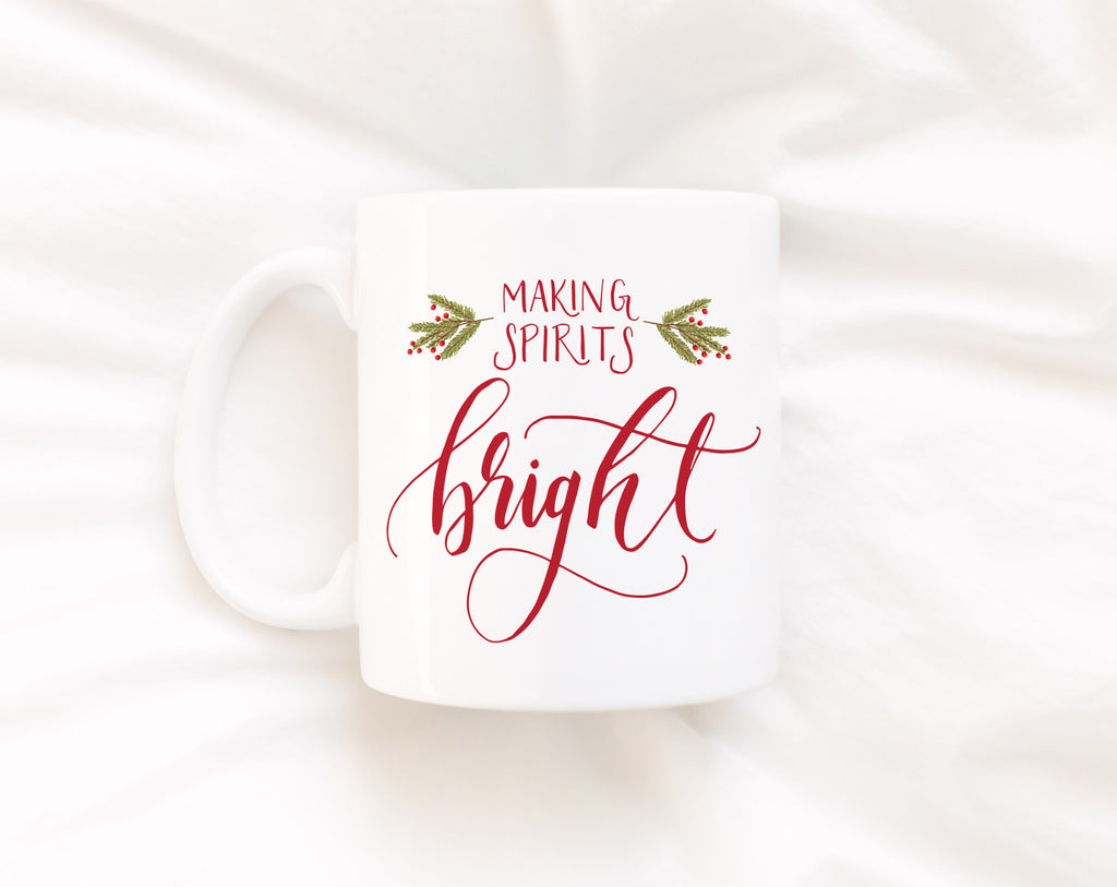 Making Spirits Bright, Full Color Mug