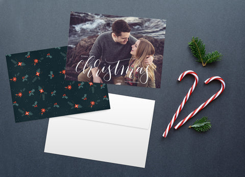 Calligraphy, Christmas Card Set
