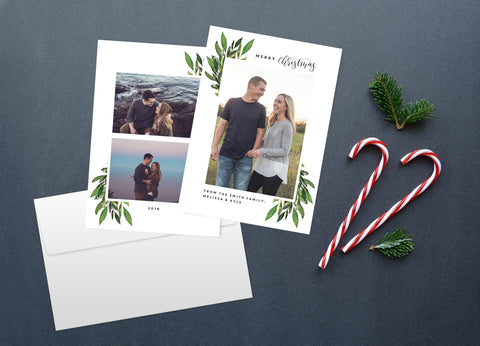 Greenery, Christmas Card Set