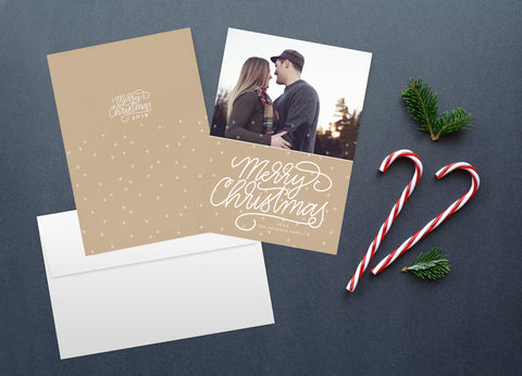 Golden Snowflake, Christmas Card Set