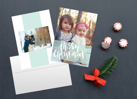 Icy Watercolor, Christmas Card Set