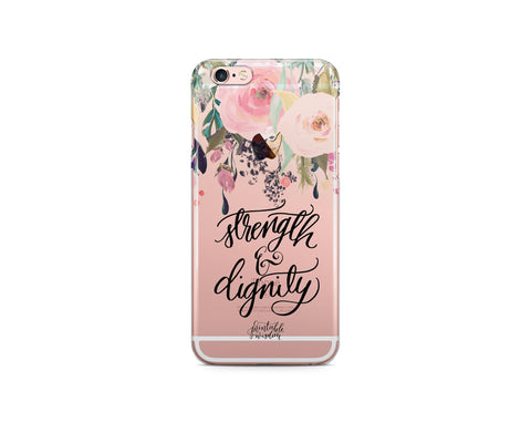 Proverbs 31:25 Phone Case, Clear