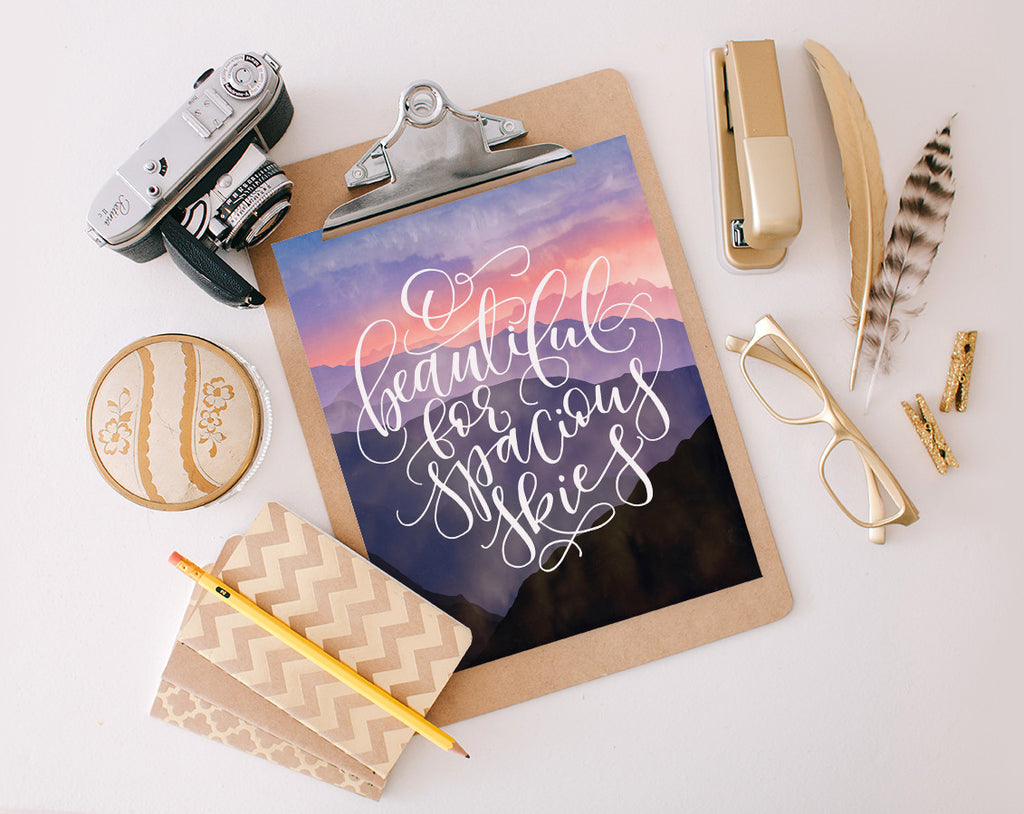 For Spacious Skies, Printable