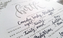 Letterpress Birth Certificate
