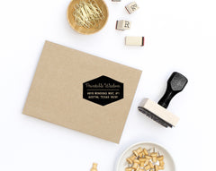 Geometric Return Address Stamp