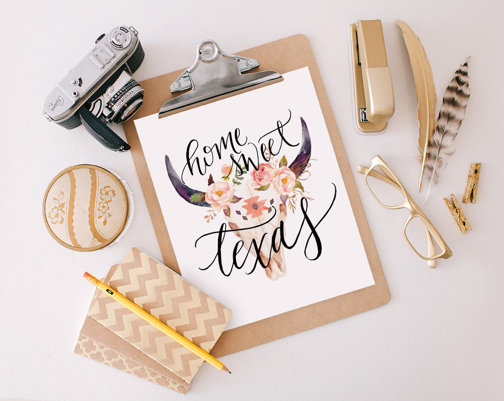 Home Sweet Texas, Printable