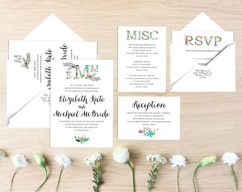 Elizabeth Printable Wedding Suite