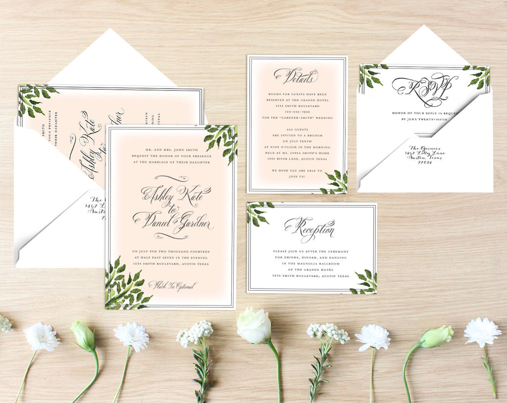 Catherine Printable Wedding Suite