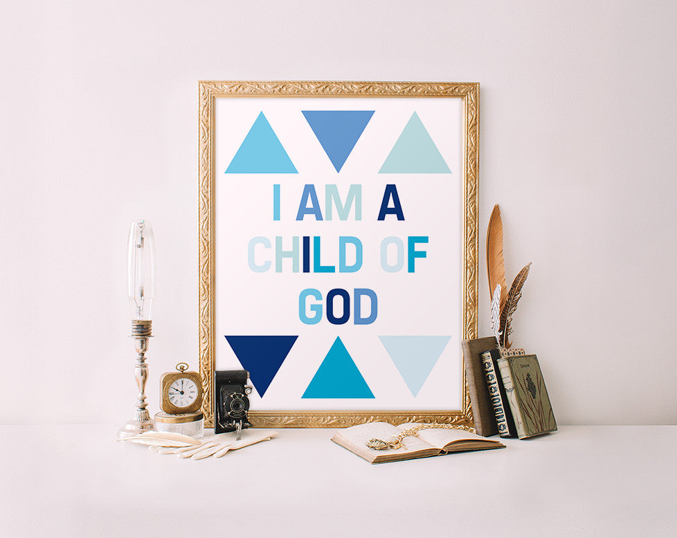 I am a child of God, Blue