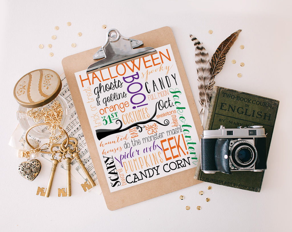 Halloween Subway Art, Colorful Printable