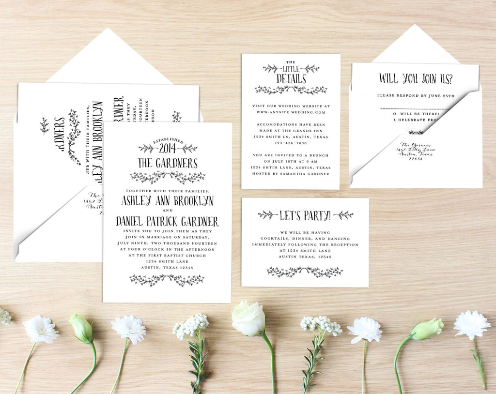 Amy Printable Wedding Suite