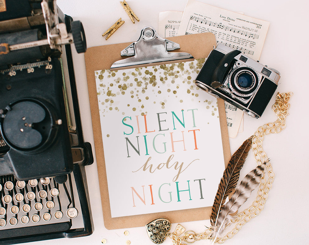 Silent Night, Printable