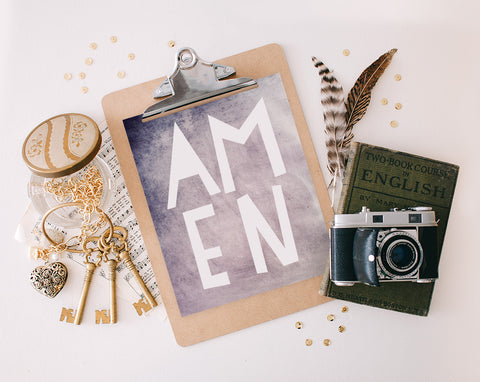 Amen Purple, Printable