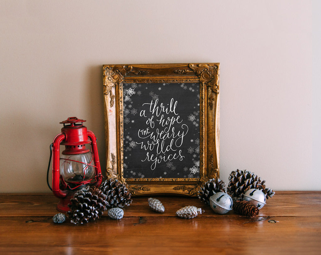 A Thrill of Hope, Chalkboard