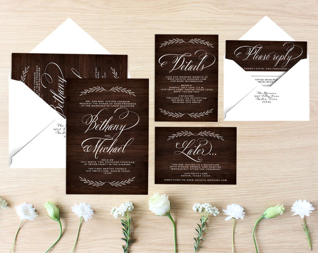 Bethany Printable Wedding Suite