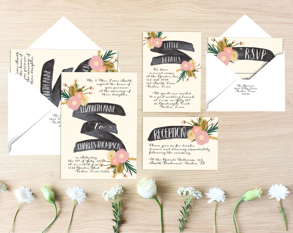 Anne Printable Wedding Suite