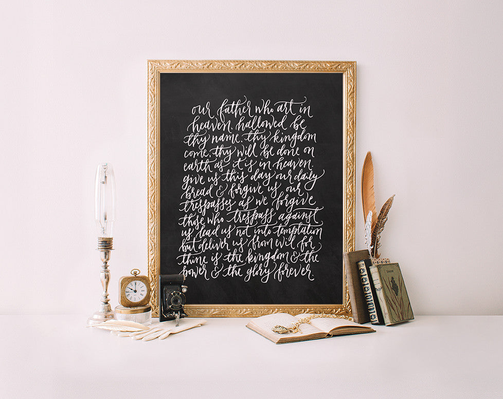 The Lord's Prayer, Chalkboard
