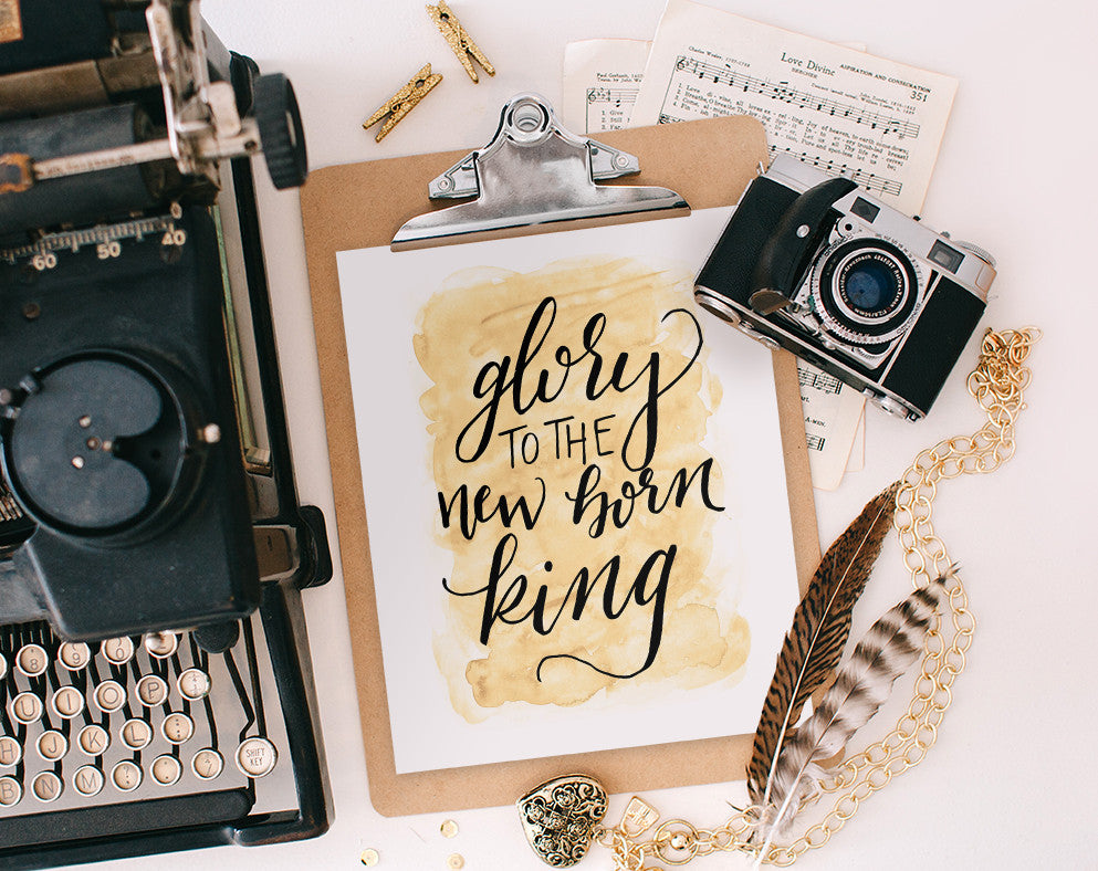 Glory to the New Born King, Printable