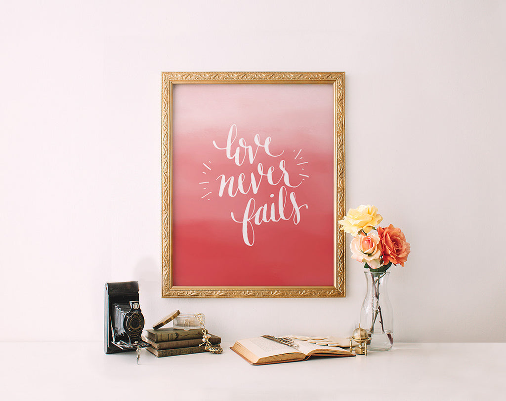 Love Never Fails, Coral Ombre