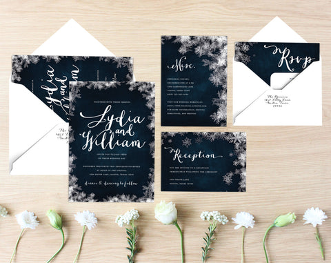 Crystal Printable Wedding Suite