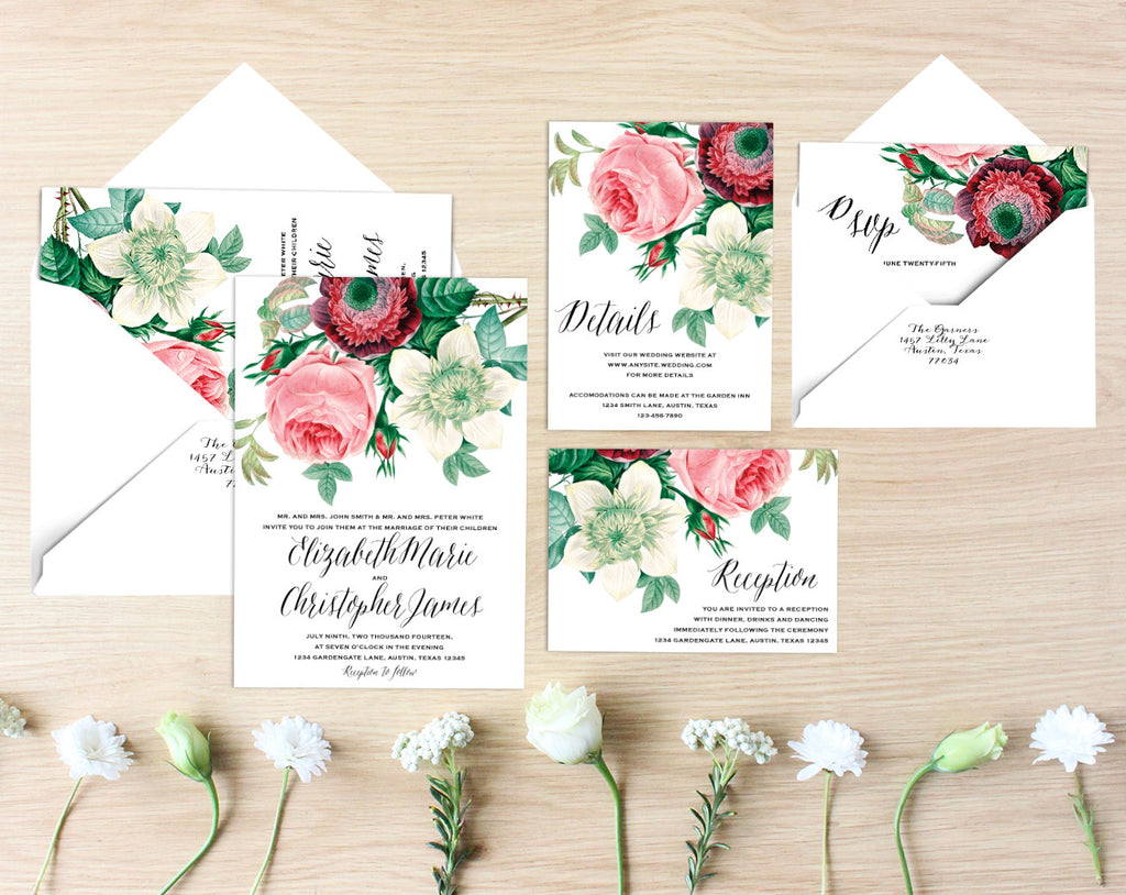 Rose Printable Wedding Suite