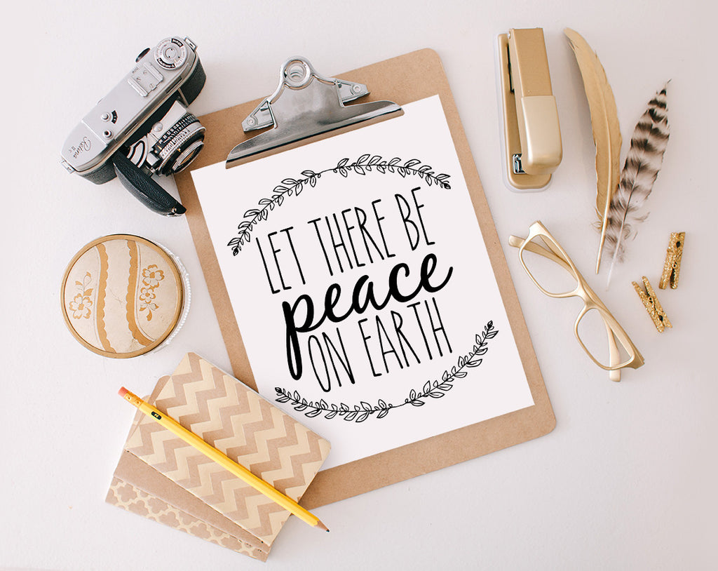 Let there be peace on earth, Printable