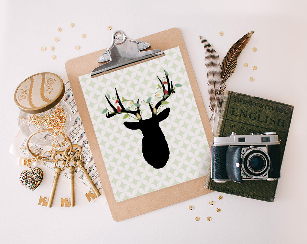 Christmas Deer, Printable