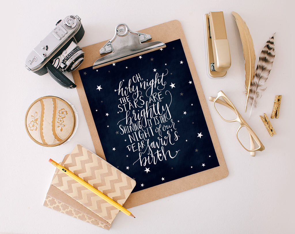 Oh Holy Night, Stars, Printable