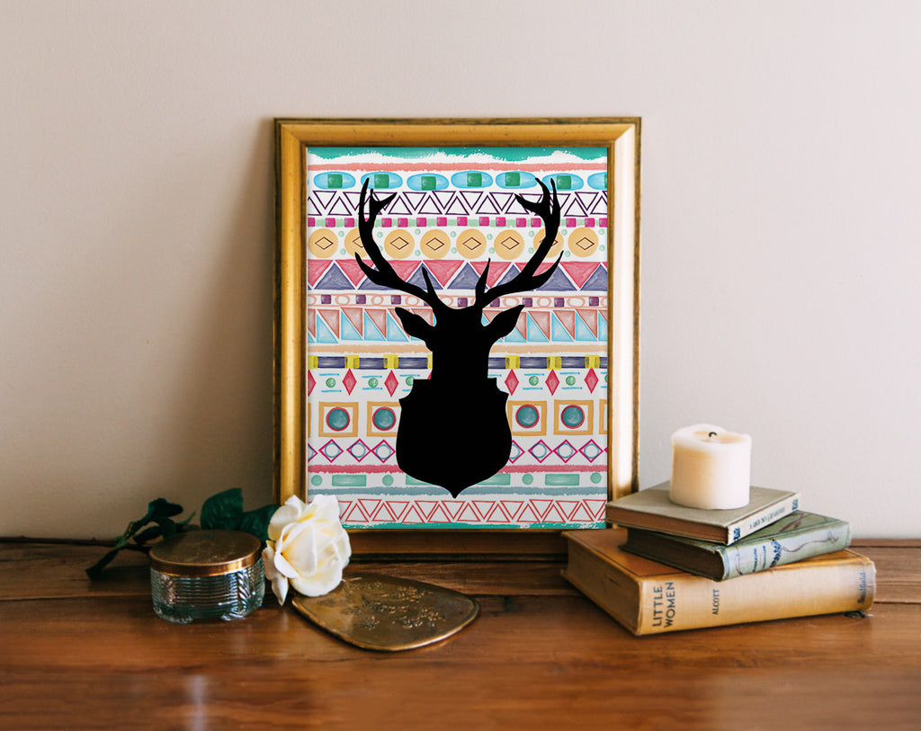Deer Silhouette, Tribal