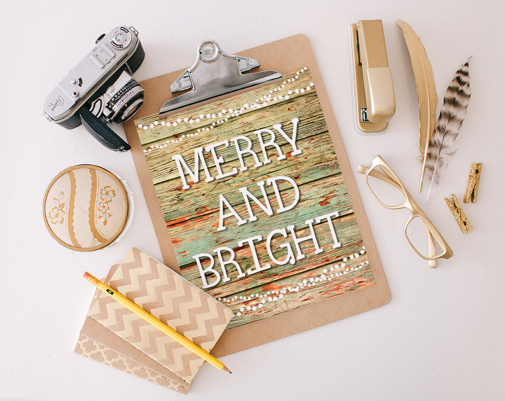Merry & Bright, Printable