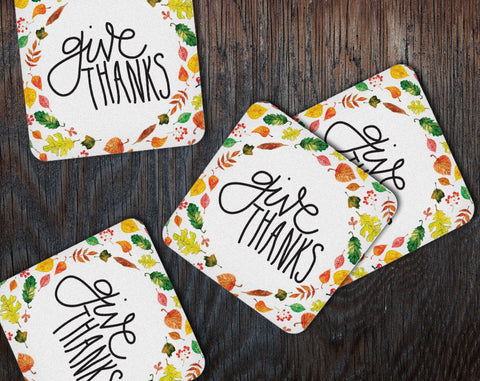 Thanksgiving Coasters, Set of 20