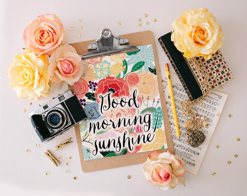 Good Morning Sunshine, Printable