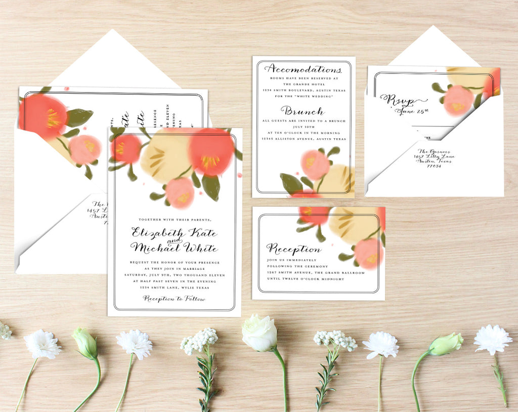 Emma Printable Wedding Suite