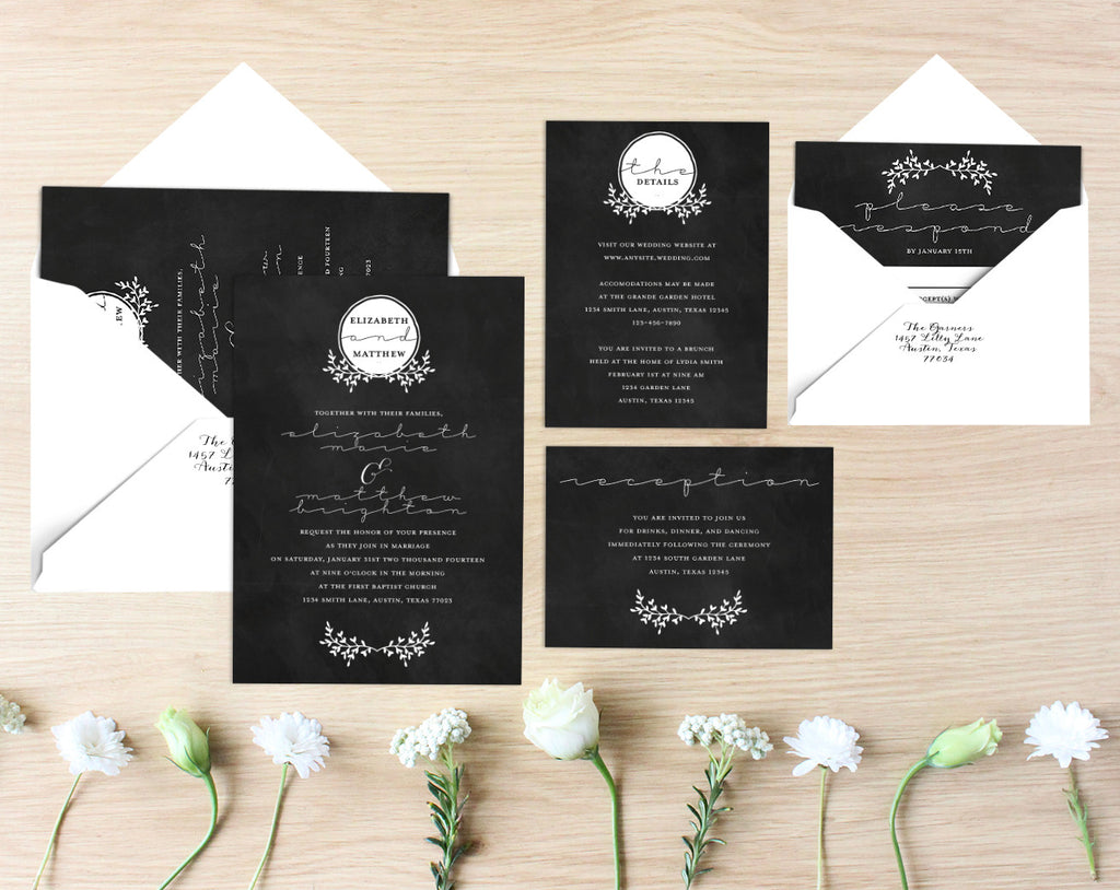 Jo Printable Wedding Suite