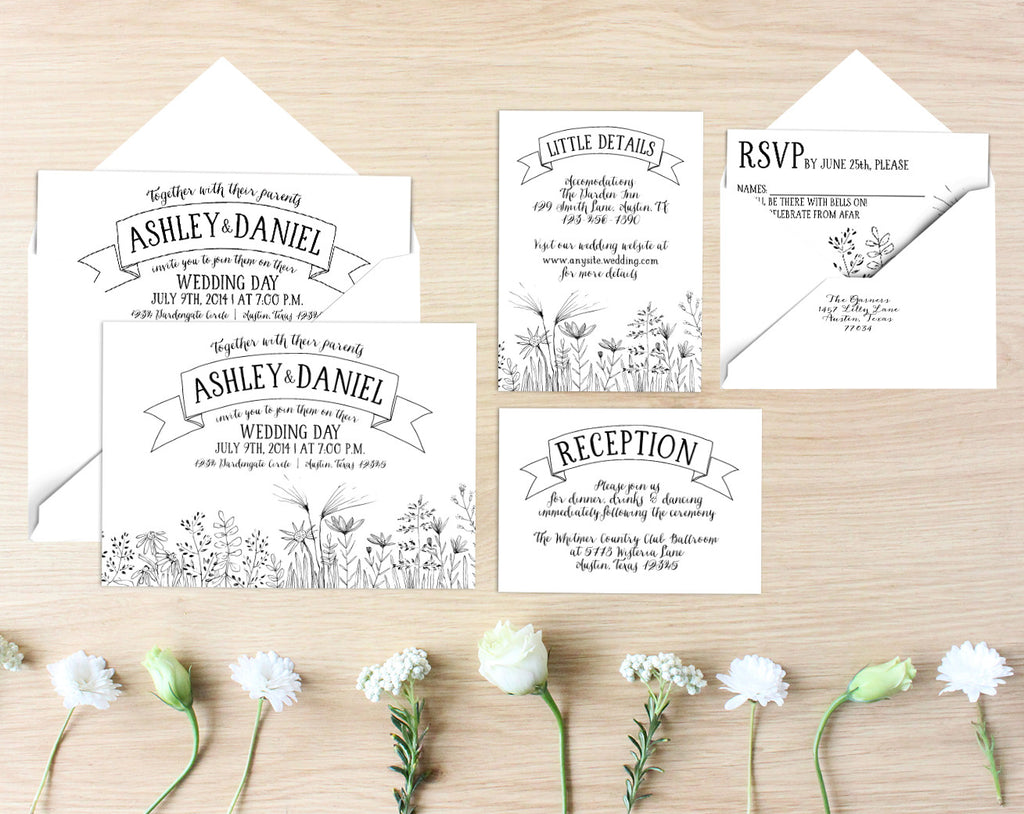 Priscilla Printable Wedding Suite