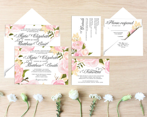 Bonnie Printable Wedding Suite