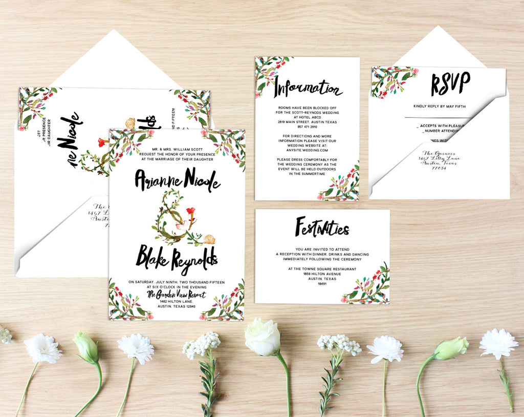 Arianne Printable Wedding Suite