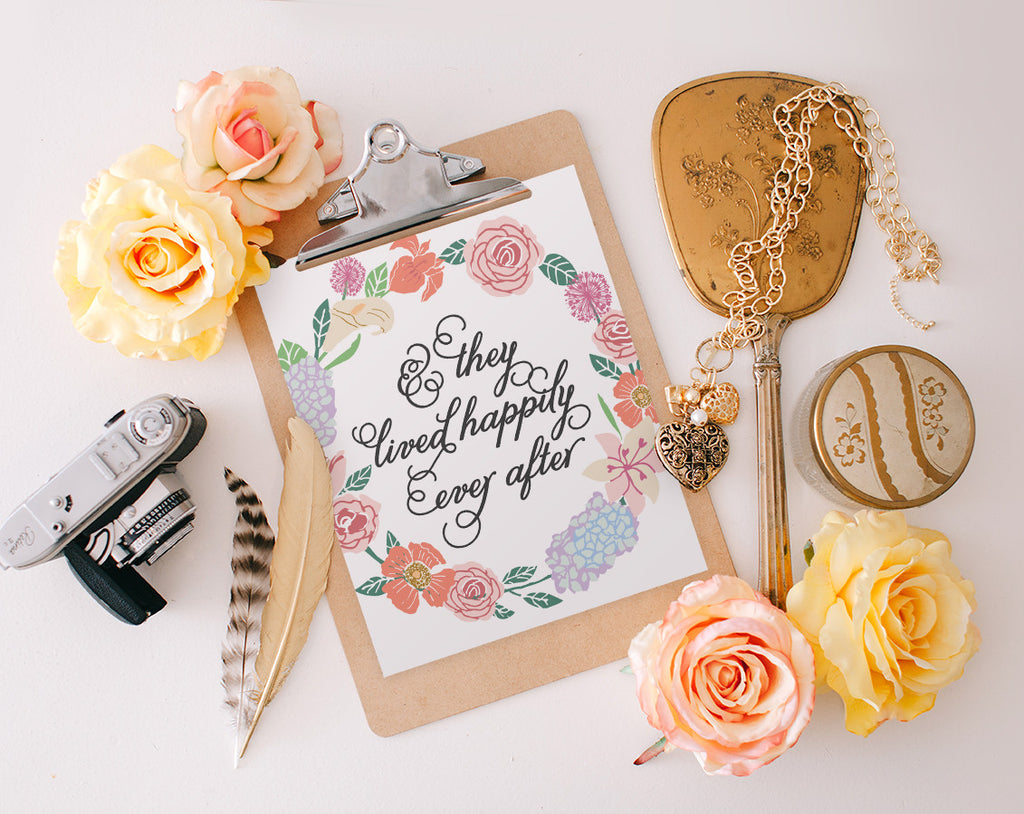 Happily ever after, Printable