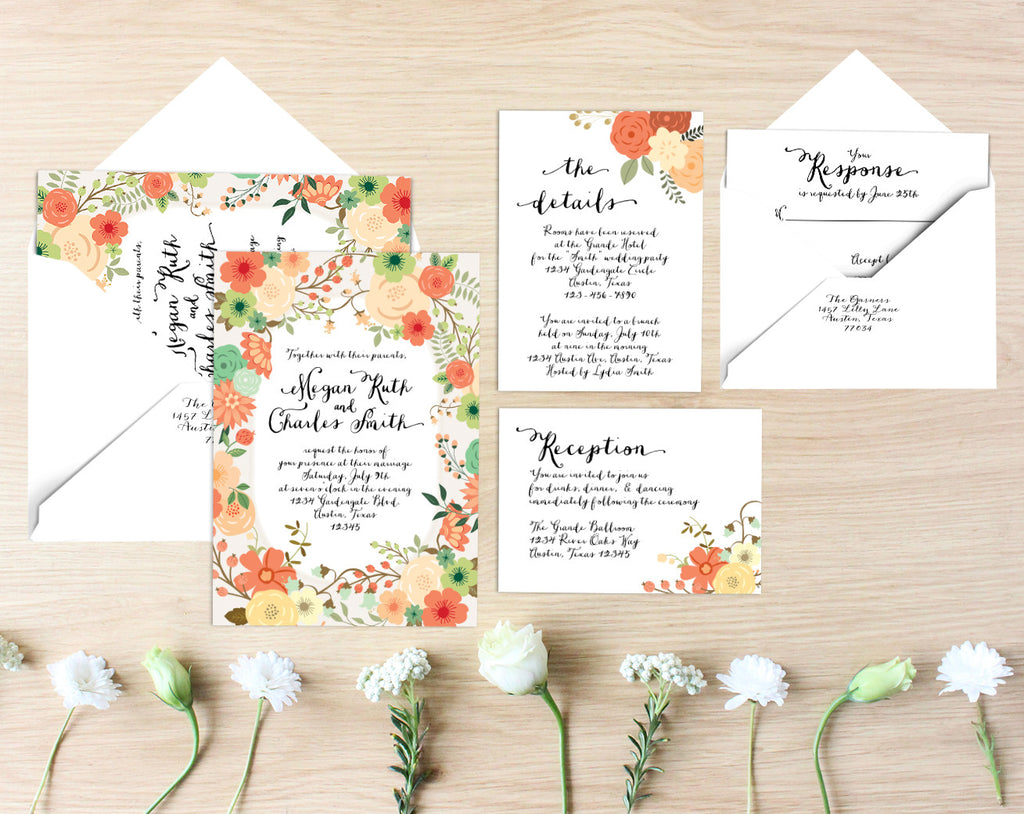 Meg Printable Wedding Suite
