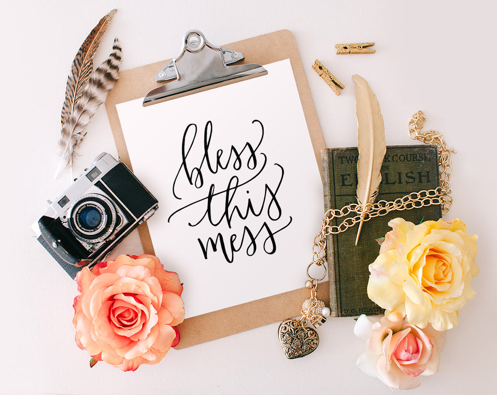 photograph relating to Printable Wisdom identified as Bless This Mess, Printable