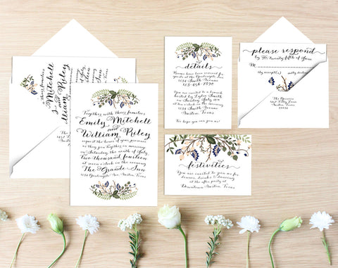 Beth Printable Wedding Suite