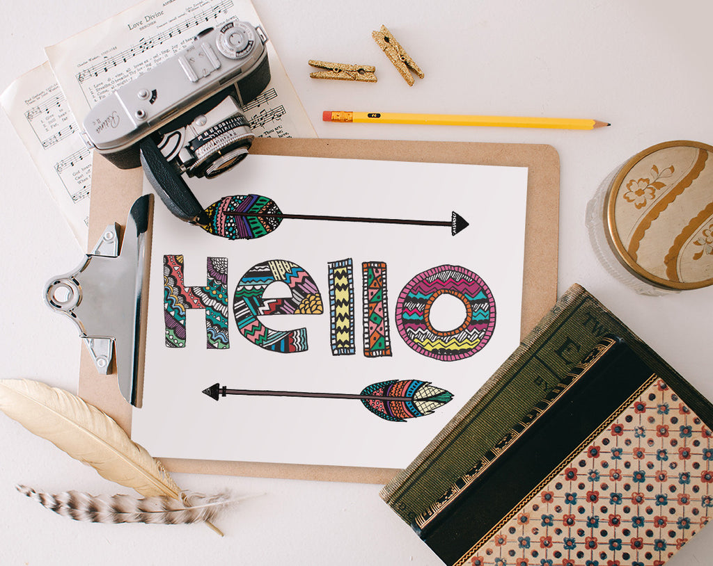 Hello, Arrows Printable