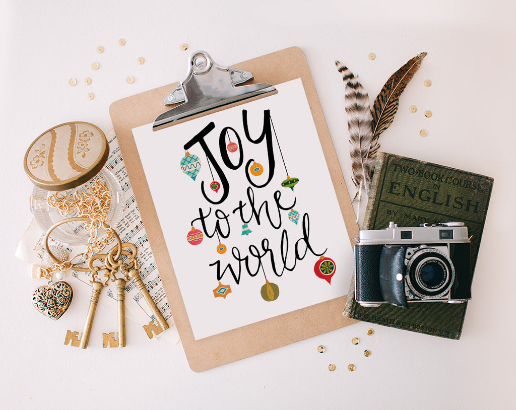Joy to the World, Ornaments, Printable